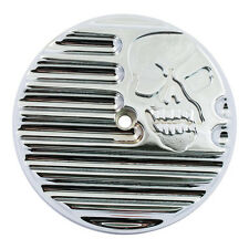 INSERT CACHE FILTRE A AIR ORIGINE TWIN CAM SKULL CHROME CONVINGTONS HARLEY