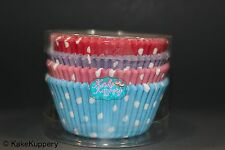 Polka dot baking cup cake liners blue pink purple red  #100
