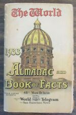 THE WORLD ALMANAC 1933 AND BOOK OF FACTS 958 PAGES NEW YORK ENCYCLOPEDIA