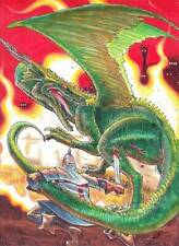 DRAGON FIRE! fantastic original art by Mahlon Fawcett - 9 x 12, cover of S&F #10
