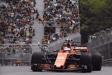 Stoffel Vandoorne SIGNED 12x8  McLaren-Honda MCL32  Canadian GP Montreal  2017