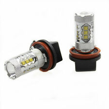 2Pcs Genuine Cree XB-D LED Fog Light or DRL 80W 1900LM, H11/H8-Xenon White 6000K