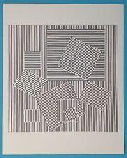 Victor VASARELY VIII Offset Originale 1973 Op Art Optique Cinétique