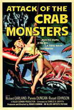 Attack of the Crab Monsters (1957) Style-A Roger Corman 50s Sci-fi Poster 27x40