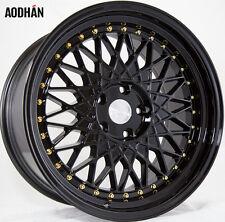 Aodhan Ah05 18X9.5 5X114.3 +35 Black Rims Fits 350z G35 Nissan Rx8 Rx7 Rsx