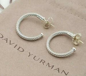 Great offer!David Yurman Cable Classic Sterling Silver Earrings The Best Gift!