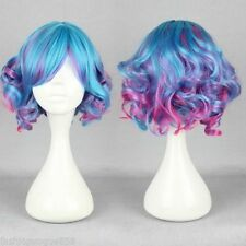 New womens Curly High Quality omber Synthetic Fashion Lolita Zipper Wig