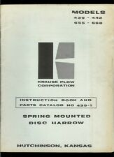 Krause Plow 439 442 655 668 Disc Harrow Owners Manual Amp Illustrated Parts List