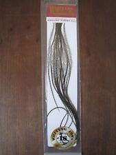 sz#18 Fly Tying Whiting 100/'s Saddle Hackle Grizzly dyed Olive
