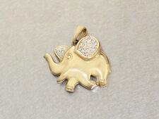 Anhänger Elefant Gold 585 mit Zirkonias - Anhänger in 14 kt Gold - Goldanhänger