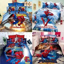New Bedline Set Marvel Spider Man Blanket Duvet Pillow Cover Twin Bed Single