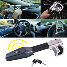 Universal Black Car Steering Wheel Anti Theft Security Alarm Lock Retractable