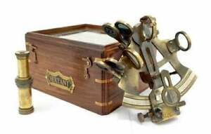 Brass Sextant Instrument Nautical Sextant for Navigation Gift Marine Antique Fun
