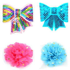 4Pcs/Pack Flowers and Bow Tie Dog Collar Accessories Pet Party Collar Decoration