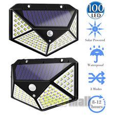 1/2xLED Solar Powered Light Outdoor Wireless Motion Sensor Wall Yard Garden Lamp