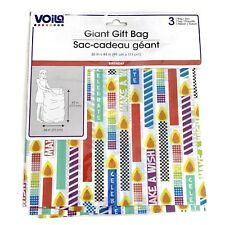 Voila Birthday Candle Large Gift Bag