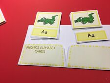 Montessori - Pre-Reading Three Part Cards And Folio - Phonics Alphabet Cards