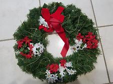 "Vintage Christmas Wreath w 4 Ceramic Angels 20"""