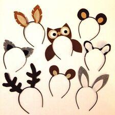 8 Woodland wild animals nature theme forest creature ears headband birthday part