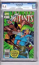 New Mutants #93 CGC 9.4 W/P' App..Sunfire! Liefeld /McFarlane C&A(Newsstand Ed.)