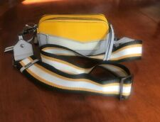 BOTKIER Cobble Hill Leather Convertible Camera Bag Yellow Marigold NWT $188