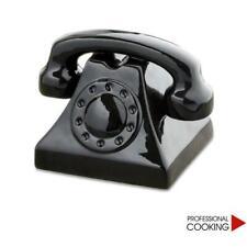 Salvadanaio conta soldi in ceramica modello telefono ring ring retro'