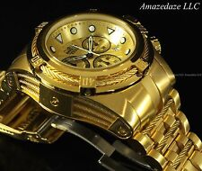 New Invicta Mens 18K Gold Plated Stainless Steel Bolt Zeus Chronograph Watch !!