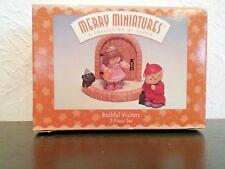 Hallmark Merry Miniatures, Bashful Visitors, 3 piece set, 1997