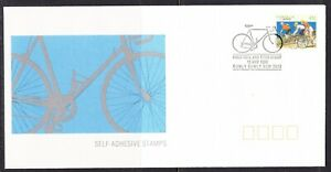 """Australia 1990 """"Peel & Stick"""" 1st APM22225 Cycling First Day Cover"""