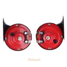12V Loud Twin Dual Tone Snail Air Horns Set Siren For Car Boat Motorcycle Van #I