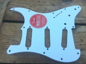 White 1-Ply Fender Squier Stratocaster Guitar Pickguard ~ Affinity, Vibe Strat