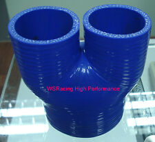 "Silicone Y hose 4"" to 2 x 2.25""  3 WAY pipe 101.6mm to 2 x 57mm"