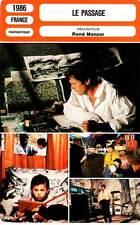 FICHE CINEMA : LE PASSAGE - Delon,Boisson,Moreau,Manzor 1986