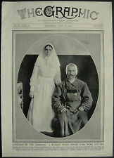 WWI Russian NCO Panasuk Ears Cut Off Petrograd Nurse 1915 1 Page Photo Article
