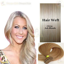 "AAA India Remy 100% Human Hair Extension WEFT 17"" Light Ash Blonde Double Drawn"