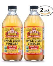 Bragg Organic Apple Cider Vinegar USDA With Mother Raw Unfiltered 32 Oz