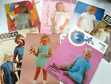 SEVEN VINTAGE CROCHET FROCK PATTERNS FOR SMALL GIRLS