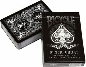 Black Bicycle Ghost Playing Cards by Ellusionist Professional Magic Luxury Deck