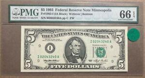 Top Pop $5 1993 IA Minneapolis (FW) PMG GEM 66 EPQ!! I02043240A RARITY