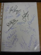 2001 Autographed A4 Page: Bristol Rovers - Approx 16 Signatures Upon A Plain Whi