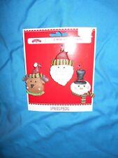 Holiday Time 3 Mini Christmas Ornament