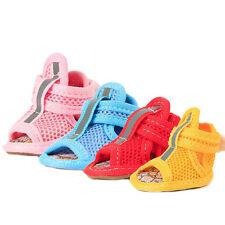 4pcs/set Dog Summer Shoes Breathable Mesh Puppy Shoes Dog Sandals Shoes