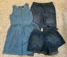 Girls Gap Blue Denim Dress, Trousers, Shorts, size 8-11 years