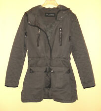 GUESS Los Angeles Military Hooded Coat Jacket, 100% Cotton Womens Size L