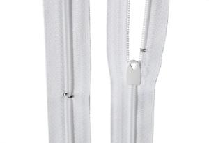 Bettwäsche Reißverschluss 1 Weg  weiß  Länge von 30 - 200 cm Wäscheschieber
