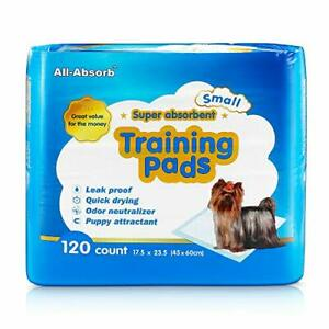 All-Absorb A05 120 Count Training Pad 17.5 by 23.5-Inch White and BluePack of...