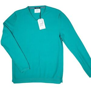 ZARA Boys Collections The Knit Wear V-Neck Sweater Long Sleeve Green Size 13-14