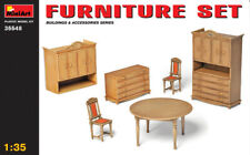 FURNITURE SET (TABLE, CHAIRS, DRAWERS, DRESSERS) #35548 1/35 MINIART