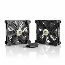 Quiet Dual 120mm USB Fan for Receiver DVR Playstation Xbox Computer Cabinet Cool