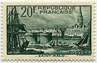 "FRANCE STAMP TIMBRE N° 394 "" PORT DE SAINT MALO 20F "" NEUF x TB"